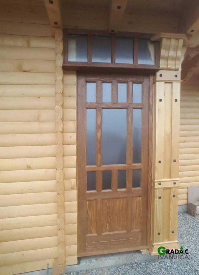 Brvnara prizemnica - detalj,  ulazna vrata, stolarija Garadac, Ivanjica