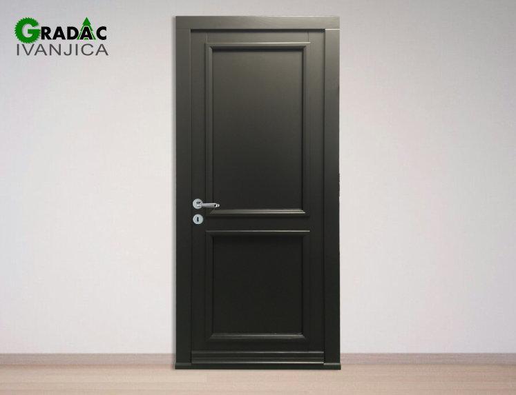 Jednokrilna drvena ulazna vrata od drvenog masiva, Eurofalc 92