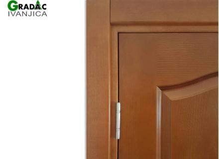 Drvena sobna vrata, detalj šarki, stolarija Gradac, Ivanjica