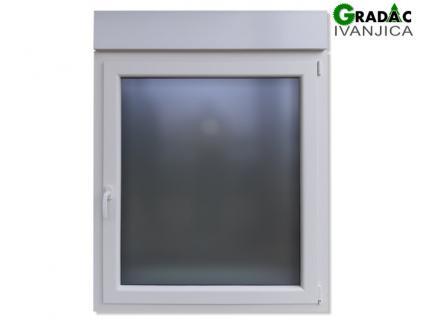 Drvo Aluminijum jednokrilni prozor sa troslojnim staklom i sa roletnom  - stolarija Gradac Ivanjica