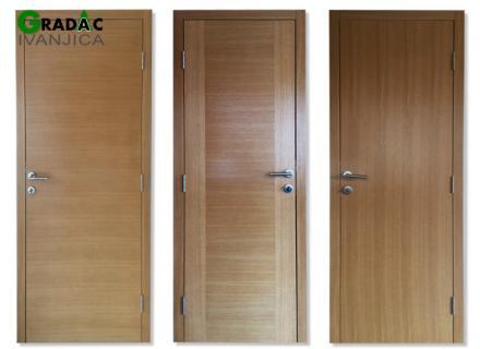 Sobna vrata, furnir hrast, vertikalni godovi, horizontalni godovi, kombinacija godova, stolarija Gradac