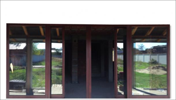 Drvena klizna stena, sa dvoje kliznih vrata, stolarija Gradac Ivanjic