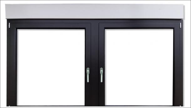 Drvo Aluminijum dvokrilni prozor sa troslojnim staklom i sa roletnom  - stolarija Gradac Ivanjica