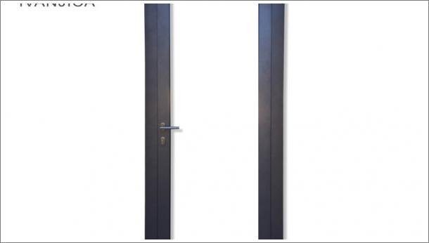 Drvo aluminijum ulazna vrata sa staklom, stolarija Gradac Ivanjica.