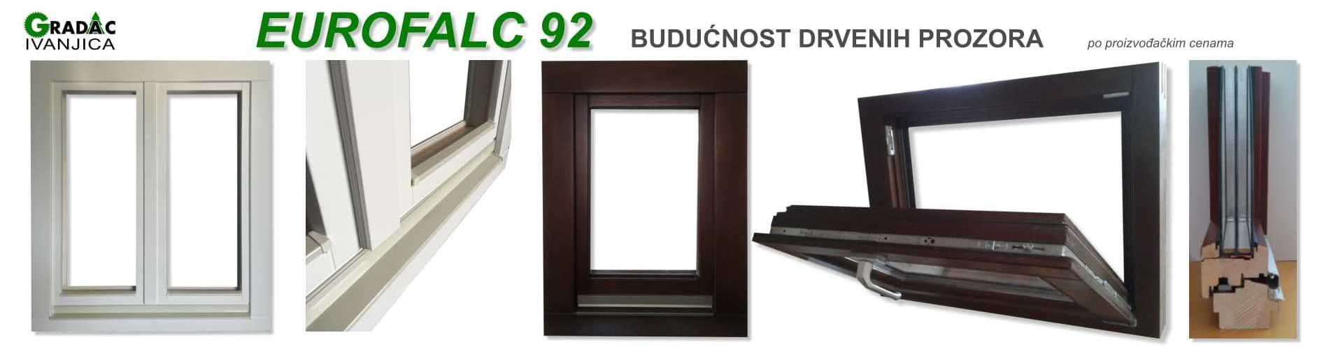 Eurofalc 92 drveni prozori