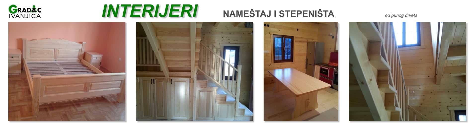 Namestaj i stepenice - stolarija Gradac Ivanjica
