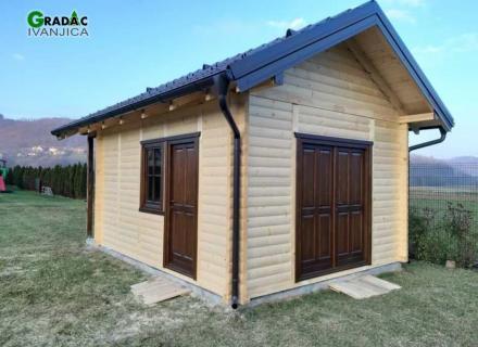 Baštenska kuća prema prilagođenom projekt BK21 - stolarija Gradac, Ivanjica.