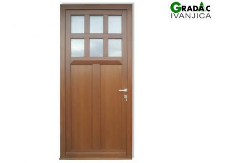 Drvena ulazna vrata, stolarija Gradac, Ivanjica