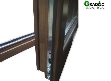 Drvo aluminijum prozor - detalj, stolarija Gradac Ivanjica