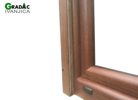 Drvo aluminijum prozor - detalj