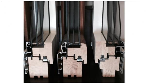 Presek Drvo Aluminijum prozora, tip Eurofalc 68 i Eurofalc 92, sa troslojnim staklom - stolarij Gradac Ivanjica