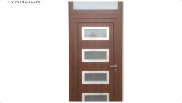 Drvo alumijum ulazna vrata