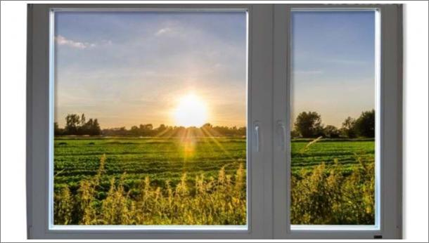 Drveni dvokrilni prozor od lameliranog drveta, Eurofalc 92 sa troslojnim staklom - stolarija Gradac Ivanjica.