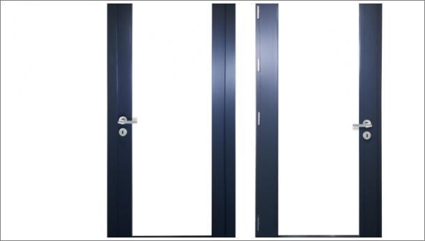 Moderna drvena ulazna vrata za lokal, ispuna staklo - stolarija Gradac Ivanjica